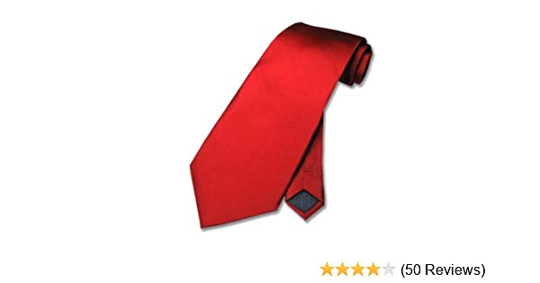 100% SILK Solid Rose RED Neck Tie. Mens NeckTie. at Amazon Mens Clothing store:
