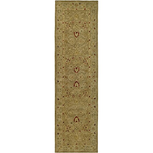 Safavieh Antiquities Collection AT822B Handmade Traditional Oriental Brown and Beige Wool Runner (2'3