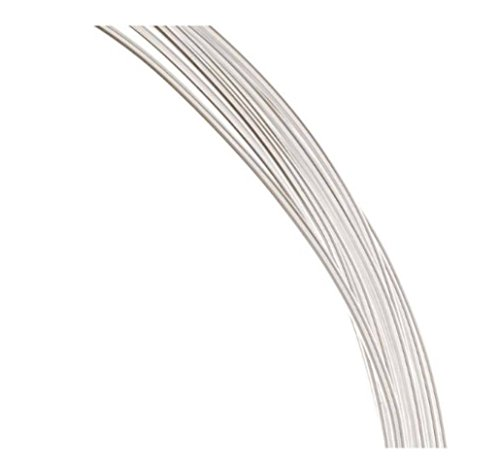 Authentic Sterling Silver Wire Dead Soft Jewelry Wire | 5 Feet Round Beading Wire (Thin wire ~ 0.5mm or 24GA) SS281-0.5