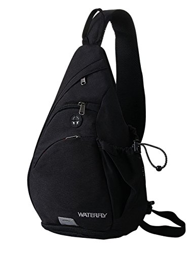 Sling Backpack, WATERFLY Chest Bag Shoulder Crossbody Bag Triangle Backpack...