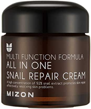 Mizon All In One Snail Repair Cream, Day and Night Face Moisturizer with Snail Mucin Extract, 2.53 Fl Oz (Pack of 1)