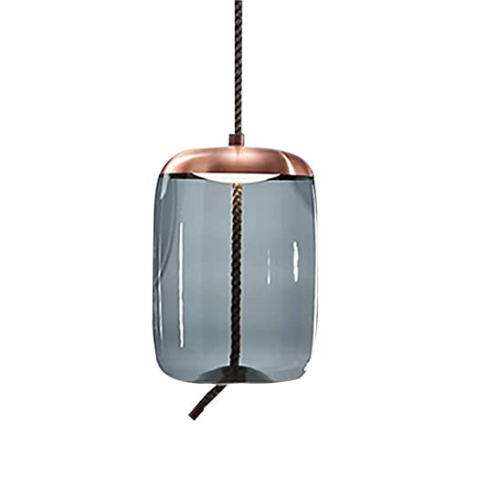 Lámpara colgante LED 7W modern rose gold + aqua blue color lámpara ...