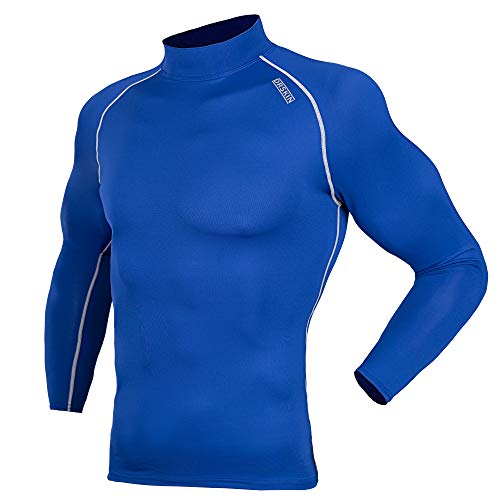 DRSKIN UV Sun Protection Long Sleeve Top Shirts Skins Tee Compression Base Layer (SBL071, S)