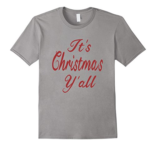 Men's It's Christmas Y'all Holiday Gift Christmas T-shirt...