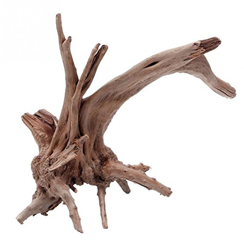 Kathson 1pcs Tree Trunk Driftwood Aquarium Fish Tank Plant Wood Decoration Ornament (L)