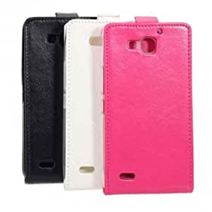 Flip Leather PU Protective Case For Huawei Honor 3x --- Color:White