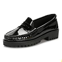 Tower Womens Patent Leather Loafers