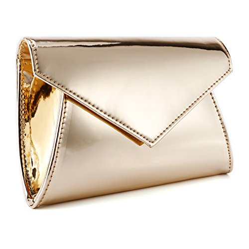 Shiny Patent (Fraulein38 Shiny High-Gloss Patent Leather Prom Clutch Women Handbag Shoulder Bag)