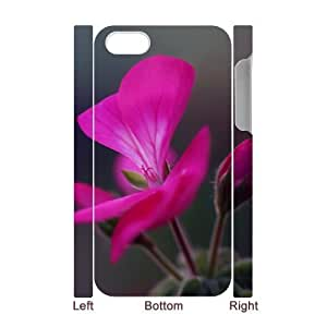 3DGeranium Flower Buds For Ipod Touch 5 Case Cover for Girls , Case for For Ipod Touch 5 Case Cover Cheap [White]