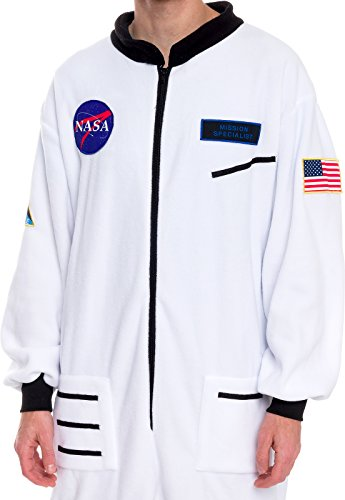silver lilly one piece astronaut pajamas adult space