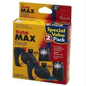 Kodak Power Flash 2 pack One Time Use 27 exposure Film Camera