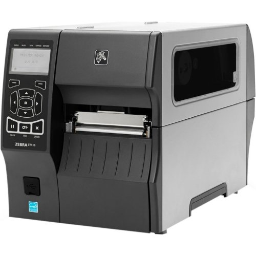 (Zebra Technologies Corporation - Zebra Zt410 Direct Thermal/Thermal Transfer Printer - Monochrome - Desktop - Label Print - 4.09