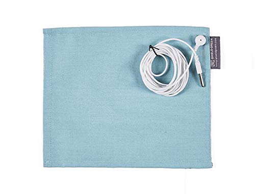- Shieldgreen Earthing Therapy-Earthing Mouse Pad, Stainless Steel Yarn 25% Fabric+Earthing snap(Length 3m) for Grounding (Aqua)