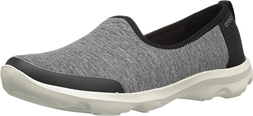 Crocs – Womens Busy Day Heather, Size: 4 B(M) US Womens, Color: Grey