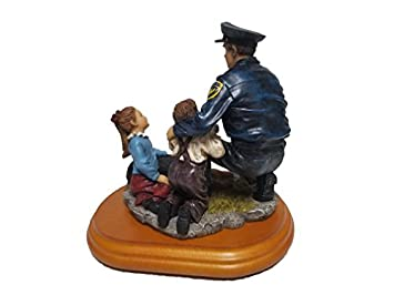Encore Policeman with Child Statue A Salute to America s Professional Police Ceramic Figure