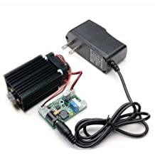 Focusable 450nm 2W 2000mw NDB7875 Diode Blue Laser Dot Module W/Driver out+TTL 12V Wood Cutting/Engraving & Adapter