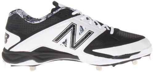 New Balance Herren L4040 Metall Low Baseball Schuh Weiß schwarz