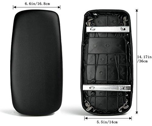 ZHOUWHJJ Universal Soft Bicycle Rear Seat Cushion, Bike Carrier Children Back Seat Seat Pad, Black (Bicycle Rack Cushion Rear)
