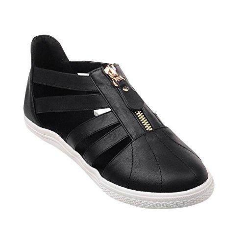 Show Shine Damesmode Rits Flats Schoenen Zwart