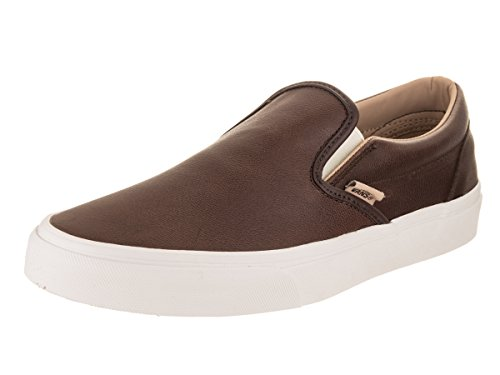 Vans Classic Slip-On Mens 7.5 / Womens 9 Lux Leather Shaved Chocolate...