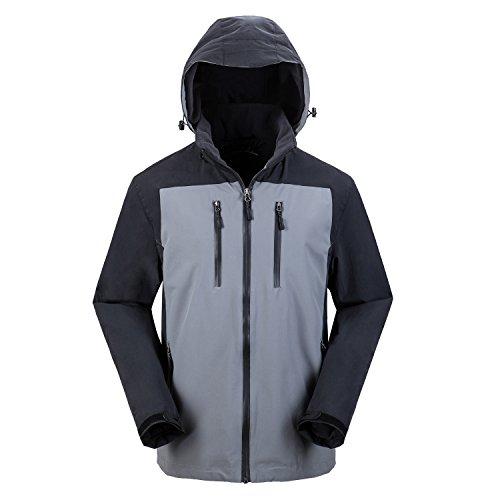MOHEEN Men's Sportswear Indoor and Outdoor Windproof Insulated Casual Hooded Jacket (XL, M67114 Grey) ()