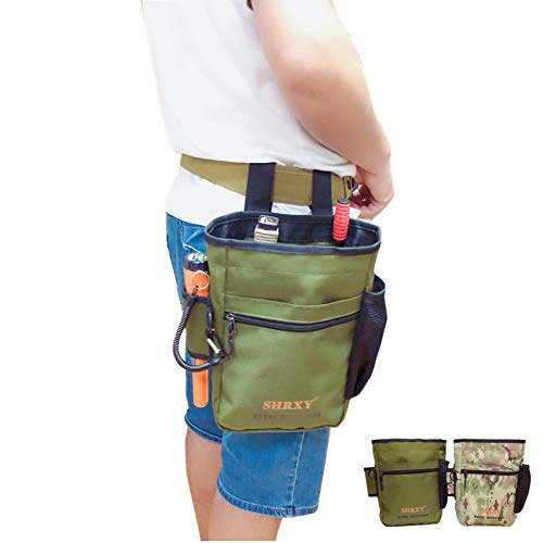 Super detesir Pointer Metal Detector Find Bag Detecting Digger Tools Bag Waist Pack Pouch for PinPointer Garrett Xp ProPointer (Green)