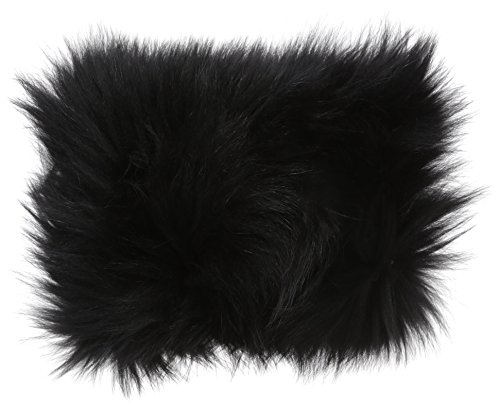 La Fiorentina Women's Fur Headband, Black, One Size by La Fiorentina