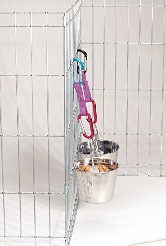 Pro Select Stainless Steel Flat Sided Pails — Durable Pails for Fences, Cages, Crates, or Kennels - 8'', 4-Quart by Pro Select (Image #1)