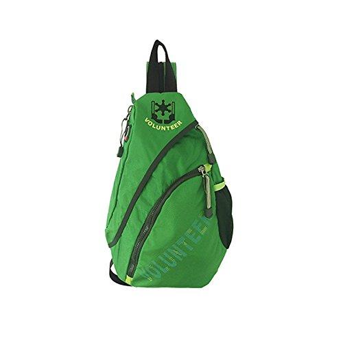 メンズチェストバッグマルチファンクションショルダースロングドロップパックトライアングルバックパックレディースバッグ防水ナイロンバッグ (色 : 緑) B07F1LLT54 緑 緑