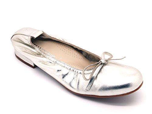 Bailarinas de Piel para VALLEVERDE mujer Plata 0HOdHwq
