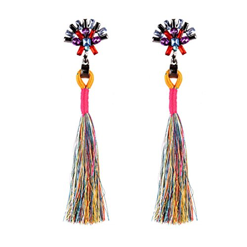 Earrings Fashion Latest Style New (Beuu Diamond Earrings Fringe Ear Clips Vintage Style Rhinestones Crystal Tassel Dangle Stud Fashion Jewelry Earring Women'S Fashion Women Earrings (Multicolor))