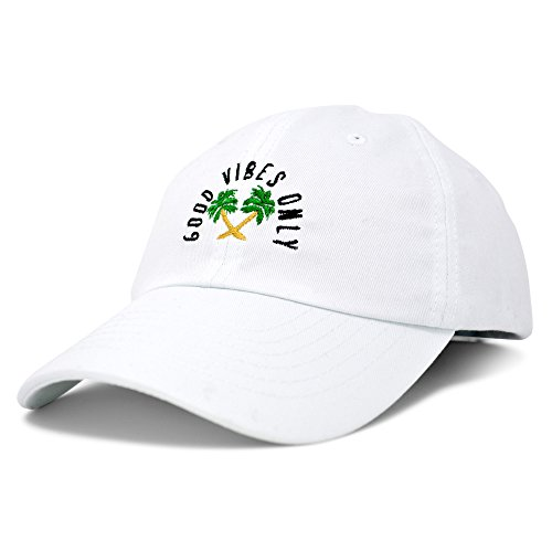 DALIX Good Vibes Baseball Cap Dad Hat Womens Mens Hats ()
