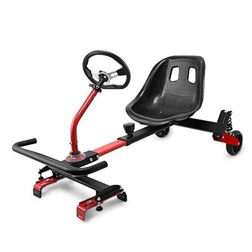 BEOL Sièges Hoverboard, Accessoires Karting Hoverboard, Scooters électriques pour Enfants et Adultes – Poignée Rouge (Envoyer équipement de Protection + Flash)