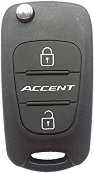 US Car Key Remote Case Shell 3 Buttons Fodable Flip for Hyundai Accent 2012 2013