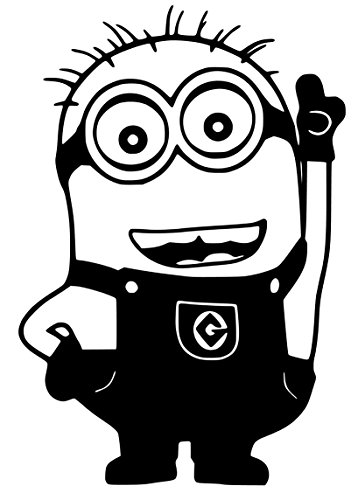 Minion Phil Sticker Decal (6''x4'', Black)
