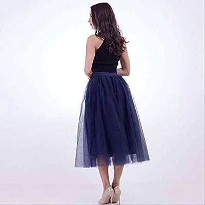 QYYDBSQ Moda de Verano Falda de Tul Faldas de tutú para Mujer ...
