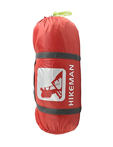 (Hikeman Ultralight Compression Stuff Sack Waterproof 2-3 Person Camping Tents Bag Stuff Storage Bag Sack Compressed Storage Saving Bag)