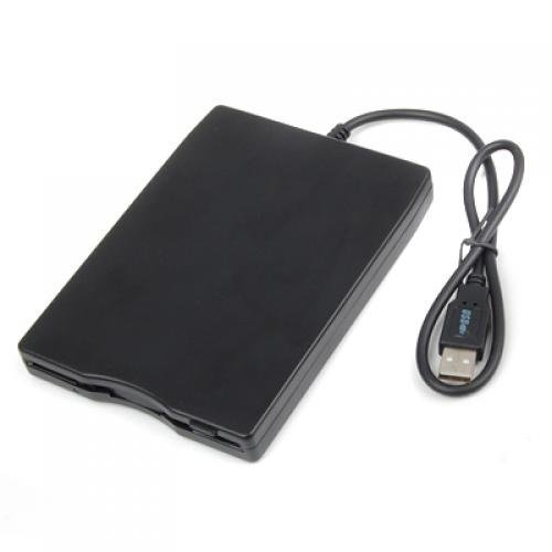 External USB 3.5 Floppy Disk Drive Black by Cipon