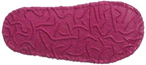 Nanga Mädchen Blumenwiese Flache Hausschuhe Pink (Fuchsia)