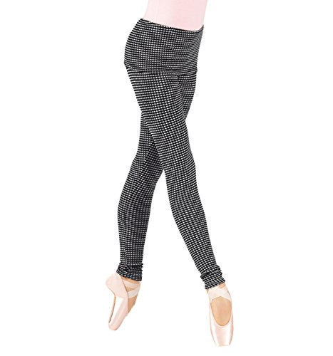 - Body Wrappers Womens Thermal Knit Warm Up Pants (7393) -Black W/BL -XS