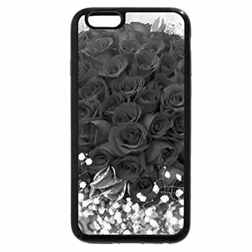 iPhone 6S Case, iPhone 6 Case (Black & White) - roses_gypsophila