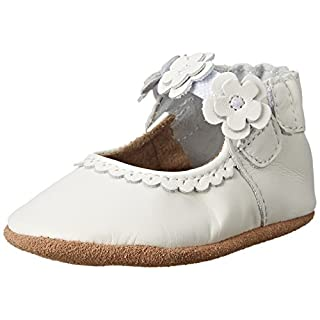 Robeez Claire Mary Jane Crib Shoe , Claire White, 6-12 Months M US Infant