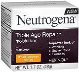 Neutrogena Triple Age Repair Moisturizer SPF 25 - 1.7 oz, Pack of 5