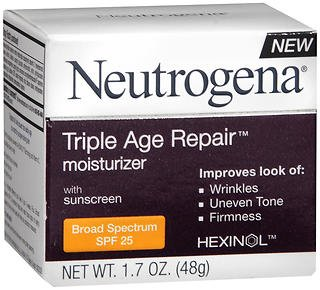 Neutrogena Triple Age Repair Moisturizer SPF 25 - 1.7 oz, Pack of 5