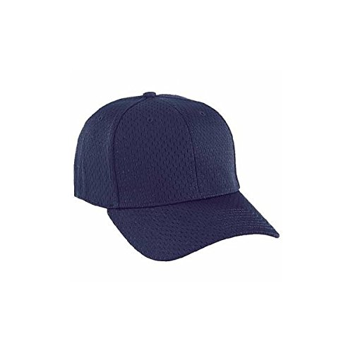 7 3/8 - 7 1/2 Small Umpire Fitted Navy Mesh Cap