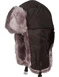 52a292b5885 Sakkas Martin Adjustable Casual Aviator Ushanka Trapper Hat Faux Fur Lined