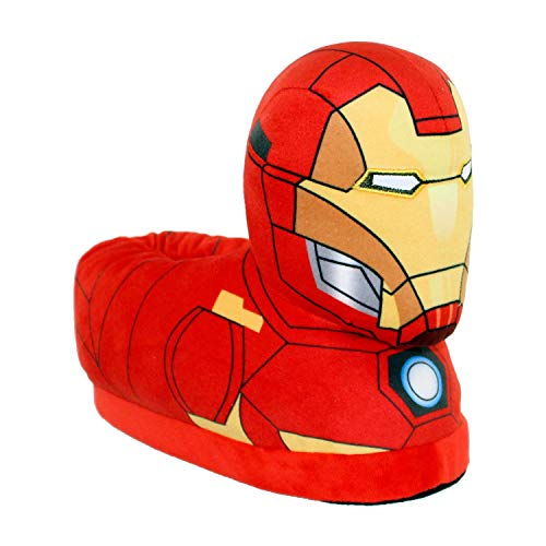 7702-4 - Marvel Classic Avengers - Iron Man Slippers - X-Large/XX-Large - Happy Feet Mens and Womens Slippers