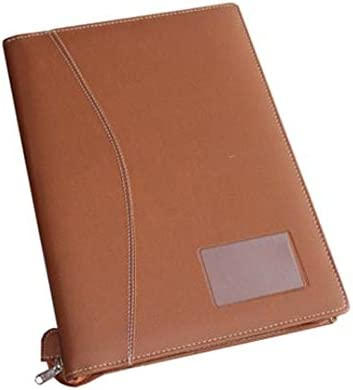 1113110c086 Renown Products Executive Leather Documents Portfolio File and Folders in 20  Leafs (Brown)