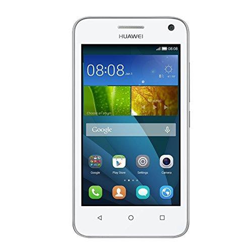 Huawei Y3 Smartphone (4 Zoll) IPS-Display, 1,3 GHz-Quad-Core-Prozessor, 5 Megapixel-Kamera, 4 GB interner Speicher, Dual-SIM,  Android 4.4) weiß