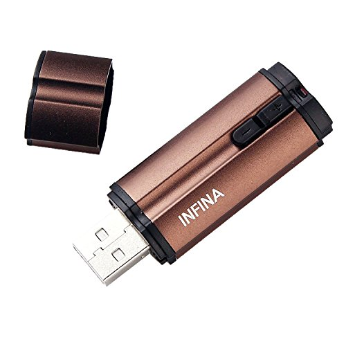 INFINA Digital Voice Recorder / MP3 Player - 8GB USB Flash Drive Dictaphone - with Direct Audio Playback Option ( AK01 ) (8GB)